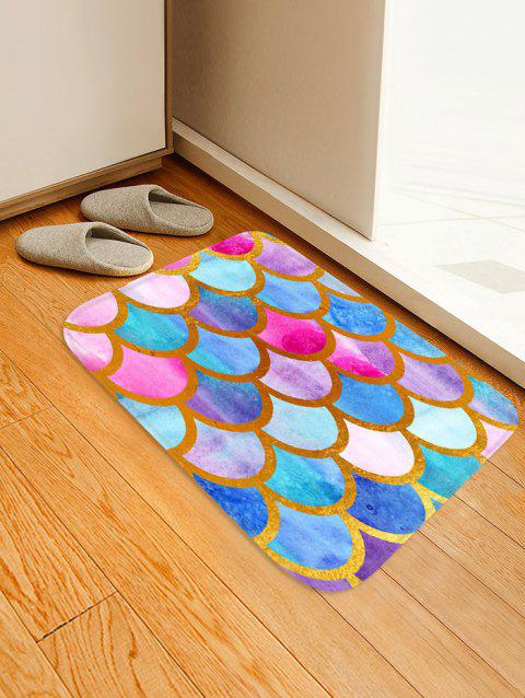 Fish Scale Colorful Printed Floor Rug - multicolor A W16 X L24 INCH