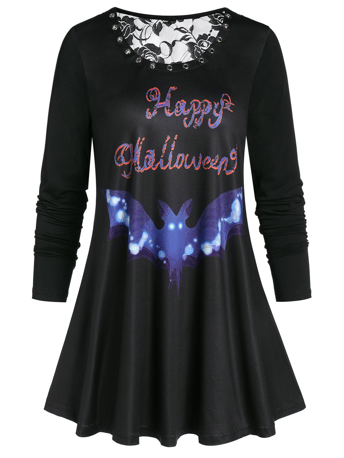 Rings Lace Panel Halloween T Shirt