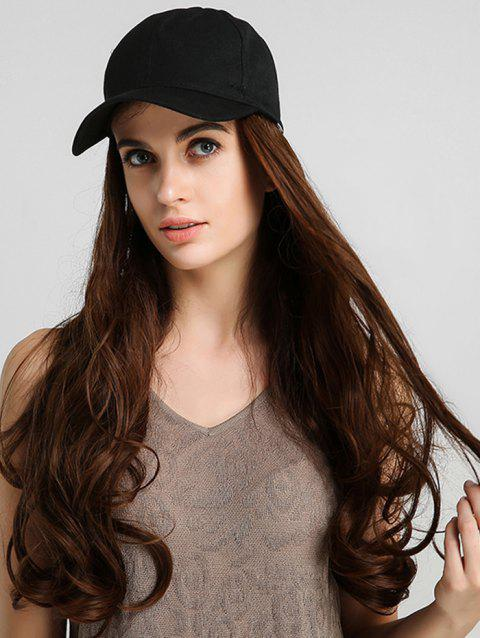 Long Body Wave Baseball Hat Synthetic Wig - BROWN