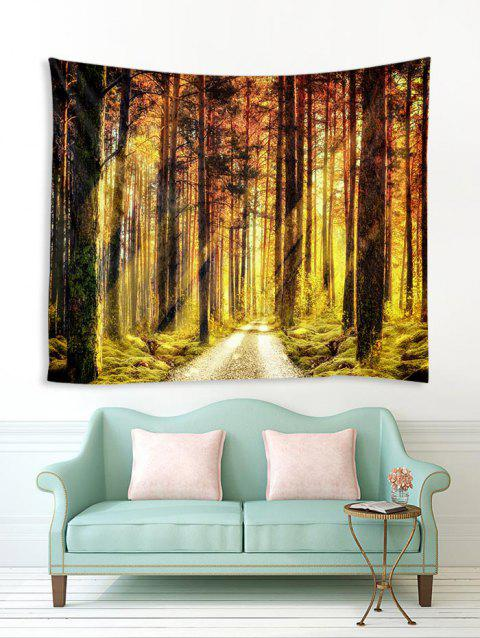 Tapis mural à impression 3D Forest Path Sunshine - multicolor A W59 X L51 INCH