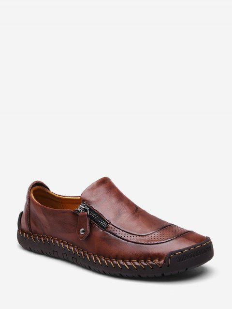 Casual Soft Leather Solid Shoes - DEEP BROWN EU 41