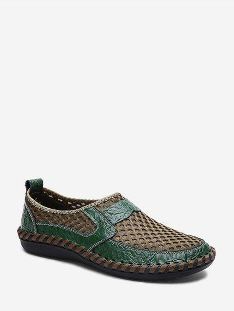 Casual Mesh Breathable Flat Heel Shoes - SEA GREEN EU 41