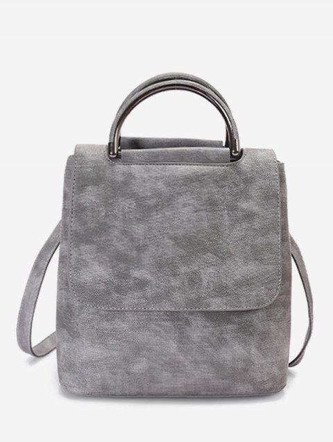 School Style Solid Simple Soft Backpack - GRAY CLOUD