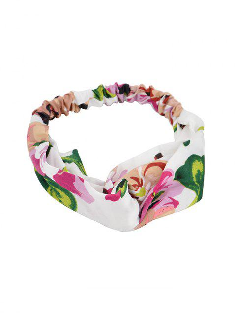 Tiny Floral Pattern Hairband - WHITE