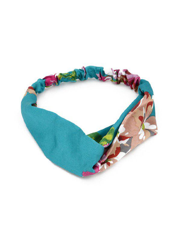 Tiny Floral Pattern Hairband - TURQUOISE