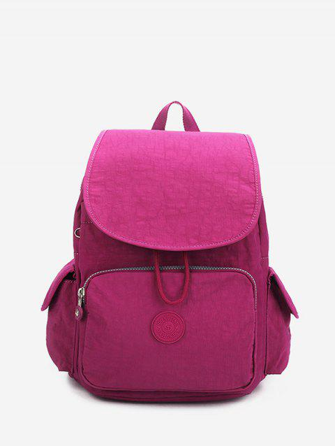Solid Color Canvas Backpack - PLUM