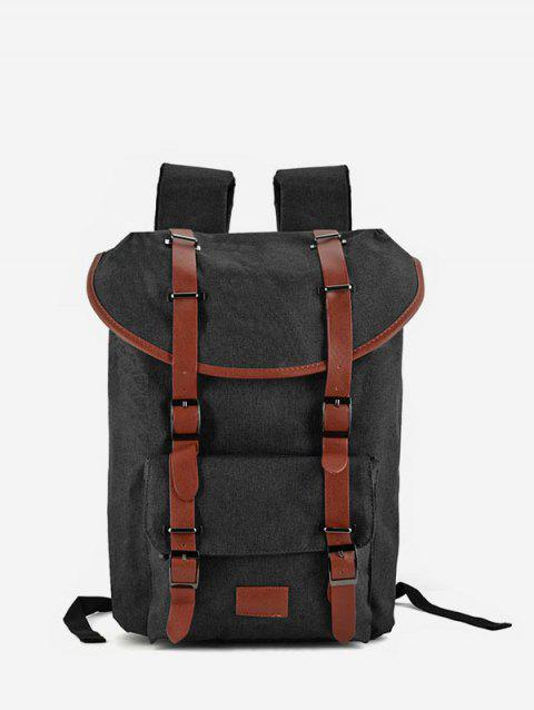 Canvas Outdoor Backpack - BLACK