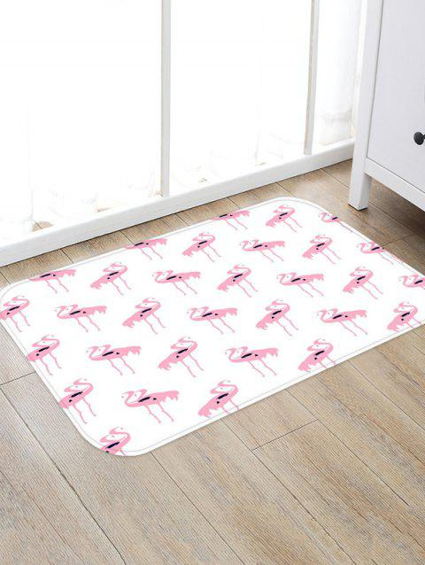 Flamingo Pattern Water Absorption Area Rug - multicolor A W20 X L31.5 INCH
