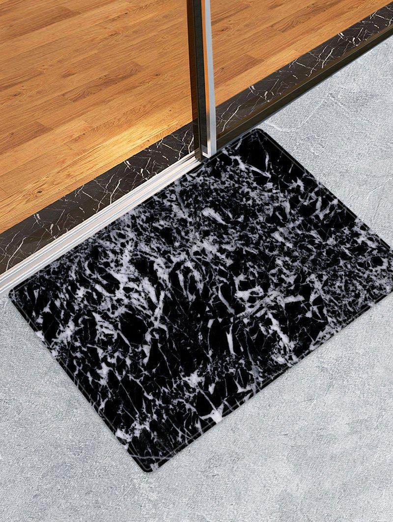 Marble Pattern Water Absorbing Area Rug - BLACK W16 X L24 INCH
