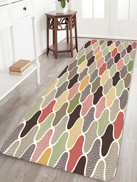 Colorful Patterned Water Absorption Area Rug - multicolor A W16 X L47 INCH