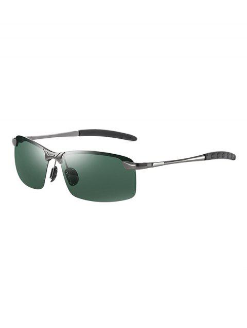 Outdoors Semi-rimless Driver Sunglasses - DARK FOREST GREEN