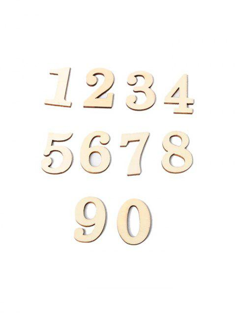 10 Pcs Home Decoration Wooden Numbers - BURLYWOOD