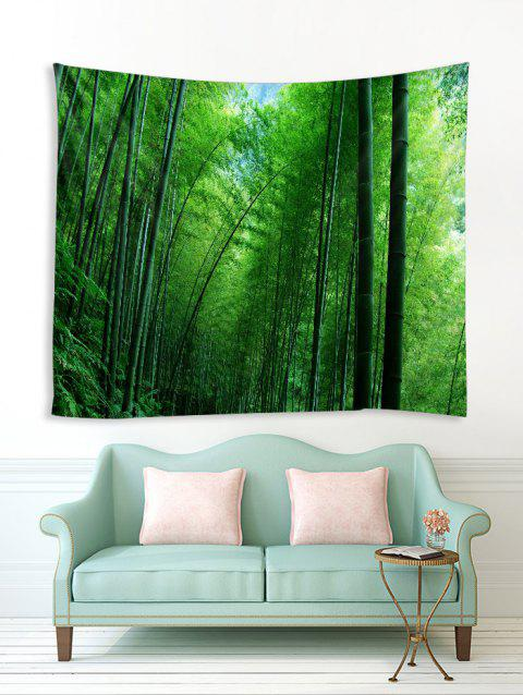 Bamboo Forest Pattern Printed Tapestry - JUNGLE GREEN W59 X L51 INCH