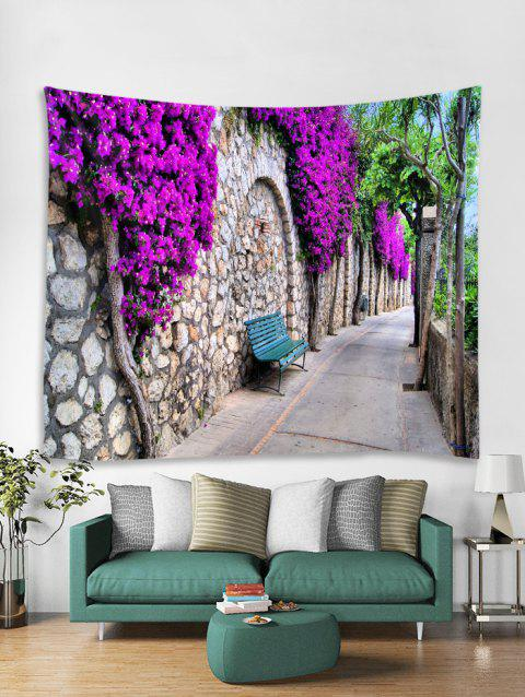 Flower Wall Path 3D Print Wall Tapestry - VIOLET 200*150CM