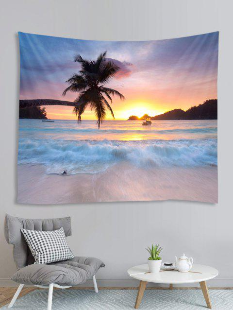 Coconut Sea Beach Pattern Printed Tapestry - LIGHT SALMON W59 X L79 INCH
