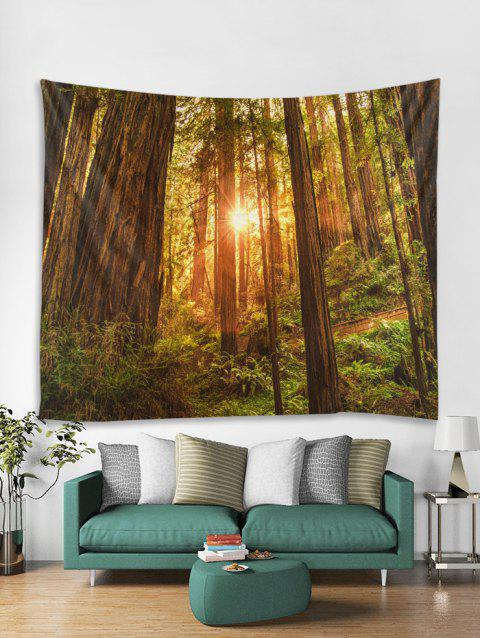 Forest Sunshine Pattern Tapestry - multicolor L W59 X L59 INCH