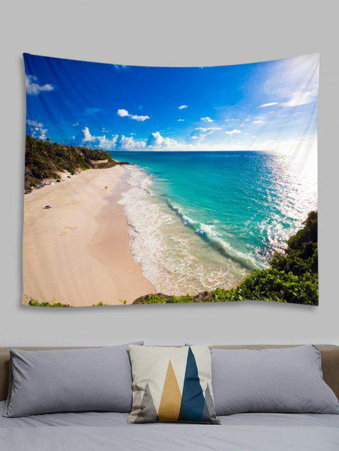 Fine Day Beach Print Tapisserie Tenture murale Art Décoration - multicolor A W59 X L51 INCH