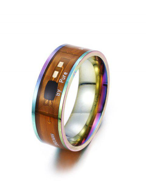 NFC ID Card Control Multifunctional Smart Ring - multicolor US 8