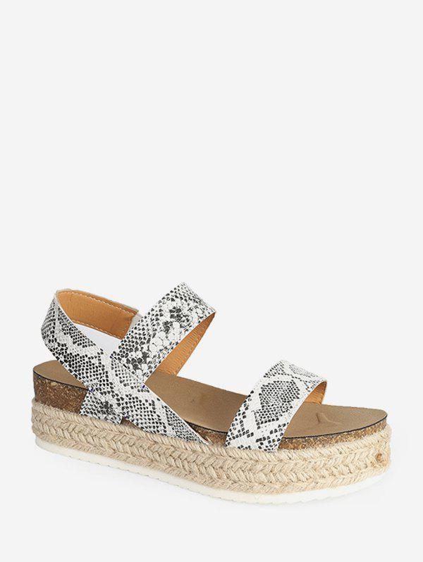 Slip On Rome Platform Espadrille Sandals - GREEN SNAKE EU 37