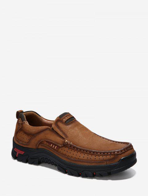Outdoor Non-slip Slip On Hiking Shoes - BROWN EU 44
