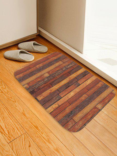 Wooden Printed Pattern Floor Mat - multicolor D W16 X L24 INCH