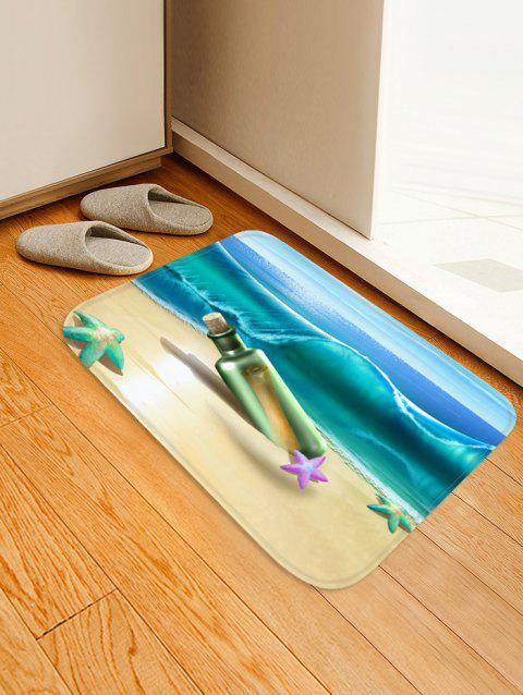 Beach Starfish Drift Bottle Pattern Water Absorption Area Rug - OCEAN BLUE W16 X L24 INCH