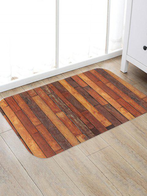 Wooden Printed Pattern Floor Mat - multicolor D W20 X L31.5 INCH