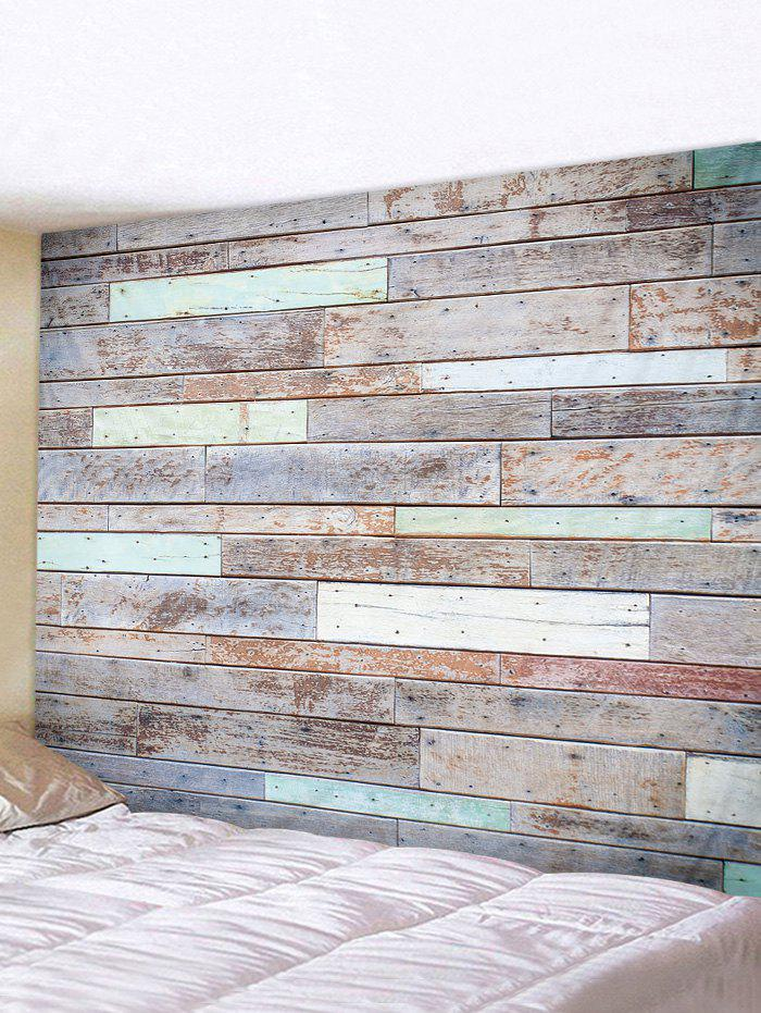 Old Plank Art Decoration Wall Tapestry - multicolor W79 X L71 INCH