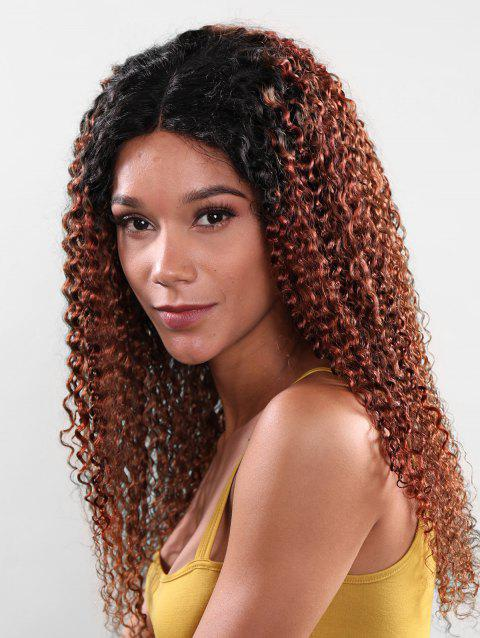 3Pcs Mongolian Curl Long Synthetic Hair Extension - BROWN 16INCH X 16INCH X 16INCH