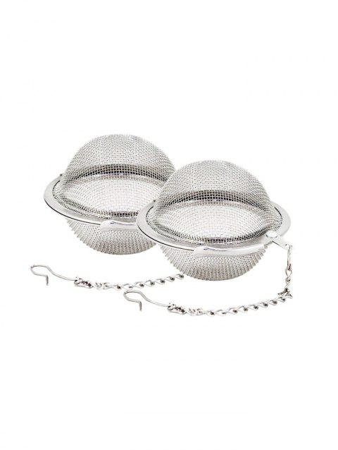 2PCS Stainless Steel Tea Balls - SILVER