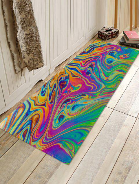Abstract Colored Print Anti-slip Floor Rug - multicolor A W24 X L71 INCH