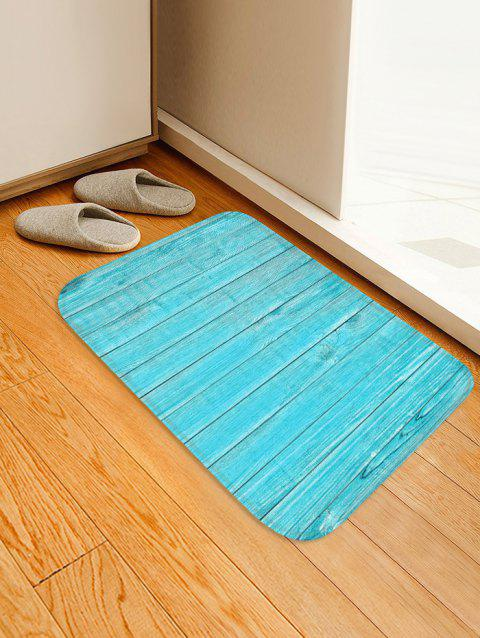 Solid Plank Pattern Print Flannel Floor Mat - multicolor L W16 X L24 INCH