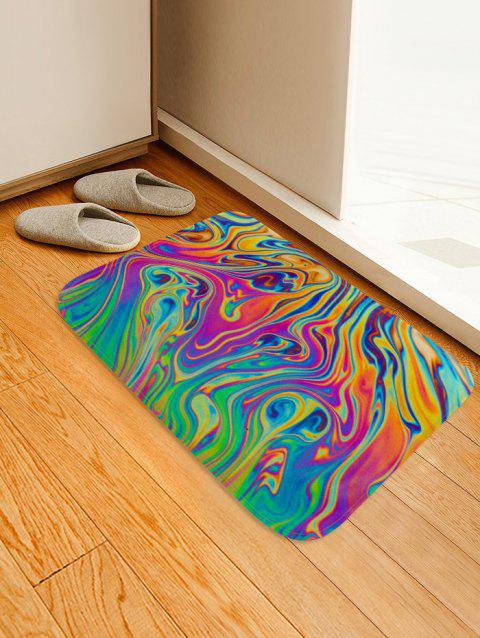 Abstract Colored Print Anti-slip Floor Rug - multicolor A W16 X L24 INCH
