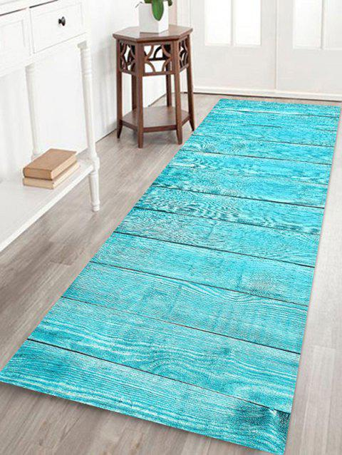 Solid Plank Pattern Print Flannel Floor Mat - multicolor L W24 X L71 INCH