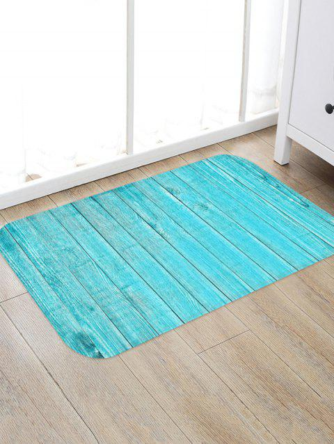 Solid Plank Pattern Print Flannel Floor Mat - multicolor L W20 X L31.5 INCH