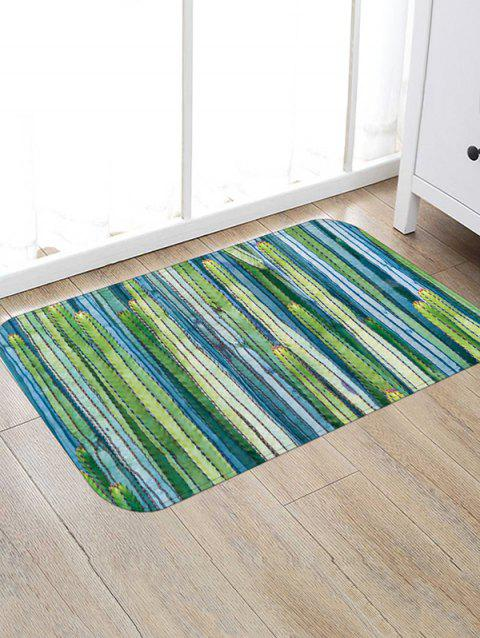 Cactus Tree Print Flannel Floor Mat - multicolor D W20 X L31.5 INCH