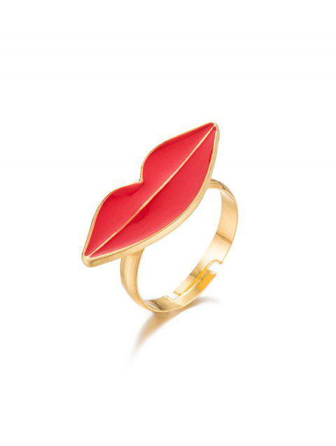Alloy Lips Cuff Ring - GOLD