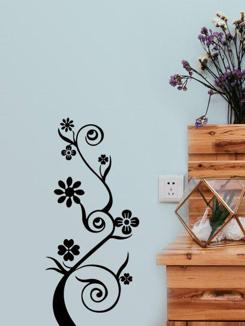 Flower Tree Pattern Wall Sticker - BLACK 58CM*26CM