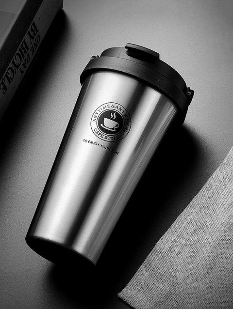 500ML Portable Stainless Steel Vacuum Cup Coffee Mug - SILVER 18*8CM