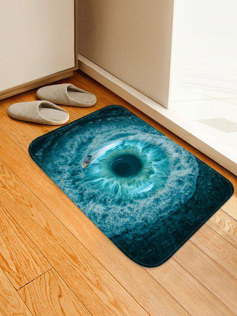Sea Vortex Pattern Water Absorption Area Rug - OCEAN BLUE W16 X L24 INCH