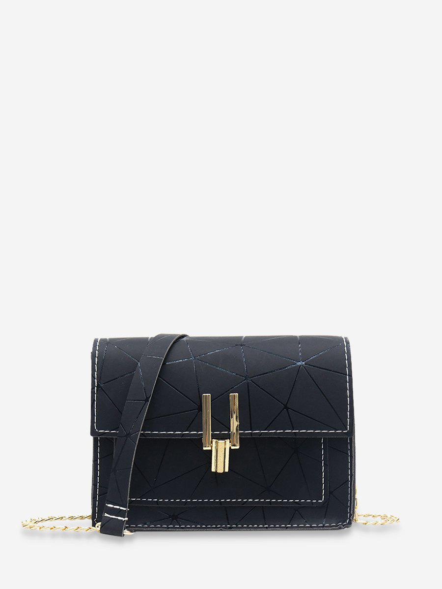 Chain Cover Geometric Crossbody Bag -