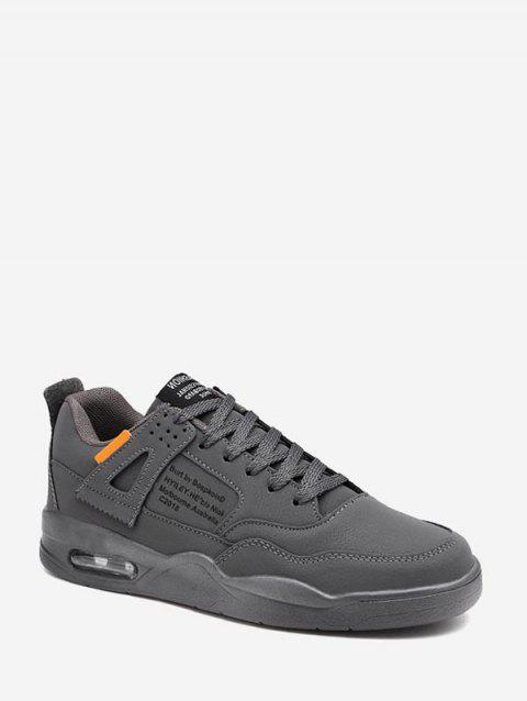 Letter Graphic Outdoor Running Sneakers - ASH GRAY EU 43