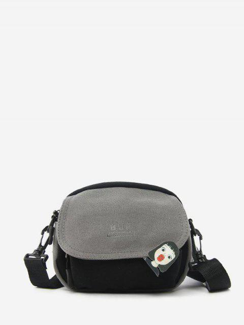 Jointed Canvas Simple Small Bag - GRAY