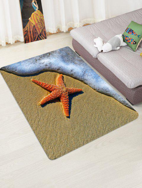 Starfish Beach Pattern Printed Floor Mat - SAND W47 X L63 INCH