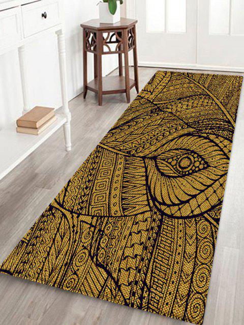 Antiskid Plant Print Floor Decor Area Rug - multicolor A W24 X L71 INCH