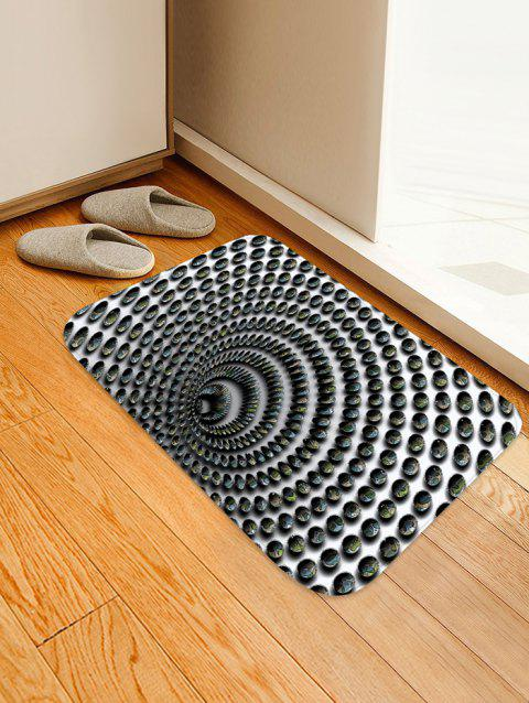 3D Whirlpool Pattern Printed Floor Mat - multicolor D W16 X L24 INCH