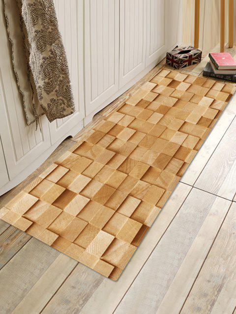 3D Wood Pattern Printed Floor Mat - multicolor L W16 X L47 INCH
