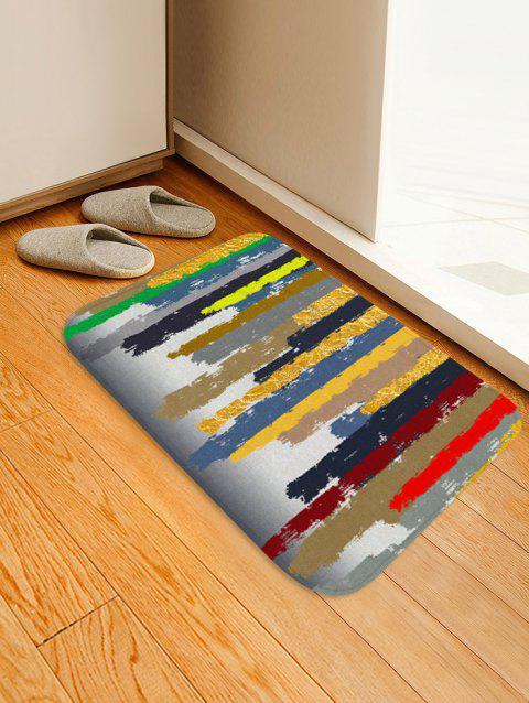 Abstract Pattern Printed Floor Mat - multicolor A W16 X L24 INCH