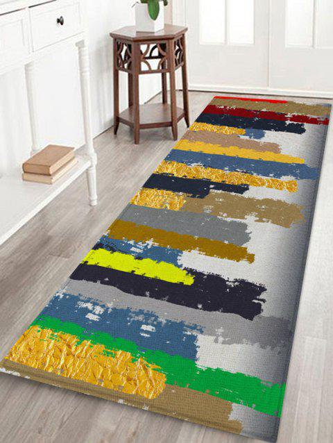 Abstract Pattern Printed Floor Mat - multicolor A W24 X L71 INCH