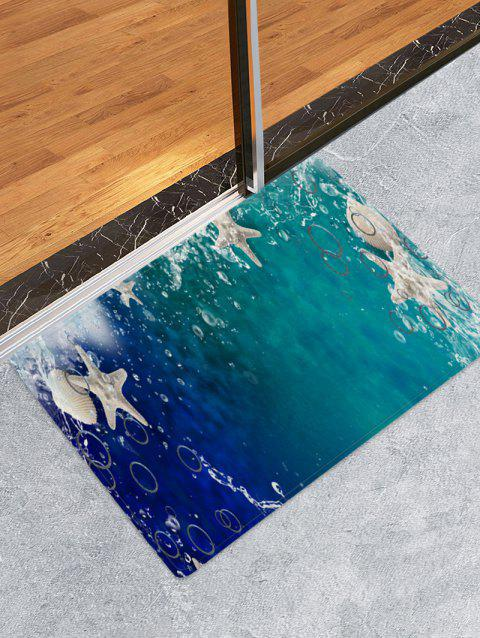 3D Starfish Pattern Printed Floor Mat - multicolor A W16 X L24 INCH